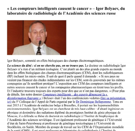 lien entre CEM et Cancer danger Linky